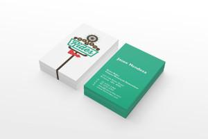 Graphic design services graphic design toowoomba diva creative business card using retro rides logo reheart Choice Image